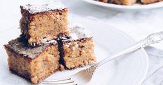 Saftiger Marzipan-Nusskuchen vom Blech: Winterliches Rezept Eat Smart, Diy Food, Crepes, Banana Bread, Food And Drink, Sweets, Baking, Breakfast, Instagram