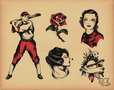 Nick The Tailor Tattoo Flash   Old School Tattoo Flash 153 by ~calico1225 on deviantART