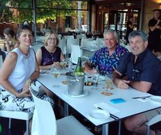 Feb 10: Tony, Graeme, Di and myself (r-l) at Bangalow Hotel for dinner. Yum!!!