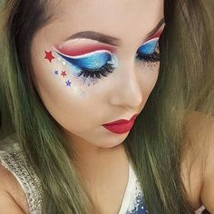 Image result for fourth of july makeup