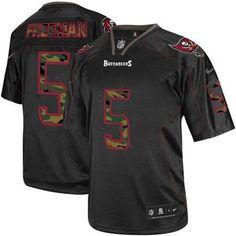Men's Nike Tampa Bay Buccaneers #5 Josh Freeman Elite Black Camo Fashion Jersey $129.99