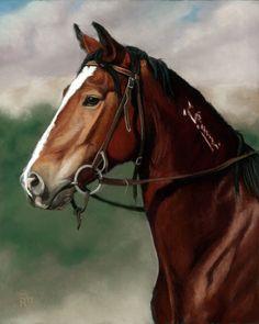 Bay mustang 8 X 10 giclee print Sarah Rose by RoseStudiosArt, $30.00 #wildhorse #art #equine #painting #horse #print