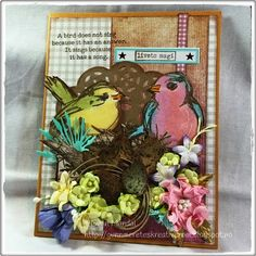 Gunns Kreative Rom: Ny utfordring hos StampARTic Scrapbooks, Paper Flowers, Cardmaking, Craft Projects, Singing, Challenges, Songs, Frame, Cards
