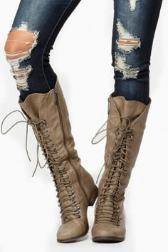 Details about Women military Combat boots motorcycle riding boots
