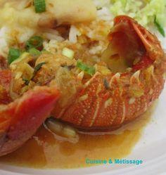 crustacés, recette Réunion, épices, Réunion, langouste, cari, tomate, curcuma, gingembre, thym