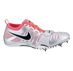 f0021e7adcc5 Women s Nike Zoom Celar 4 Track and Field Shoe - Silver Fuschia 12 Running  Spikes