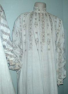 Rare surviving Tudor chemises with blackwork by Romany Way, via Flickr