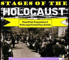 "This engaging activity will teach your students about the stages of the Holocaust during World War II either using direction instruction (lecture format) or you can ""flip"" the classroom and have the students complete the activity individually using computers. I created this activity with the goal of having the students ""feel"" the pain of the Holocaust victims."
