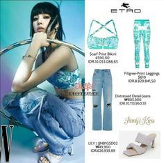Looks Teen, Blackpink Fashion, Jennie Blackpink, Kpop Outfits, Jeans Style, Leggings, Bikinis, Daily Outfit, Clothes