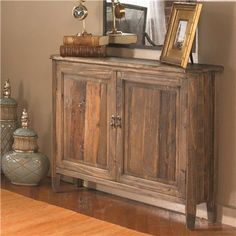 Narrow Reclaimed Wood Console Table