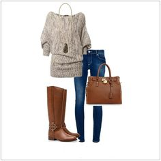CHATA'S DAILY TIP: We're loving (and needing and wanting!) this chunky knit and denim combination; a perfect outfit to beat the winter chill. Turn up the chic factor by adding a matching tan bag and boots. Looking stylishly comfy has never been easier! COPY CREDIT: Chata Romano Image Consultant, Marlise du Plessis http://chataromano.com/consultant/marlise-duplessis/ IMAGE CREDIT: Pinterest #chataromano #imageconsultant #colour #style #fashion