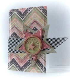star card with,,, removable star badge Peets Scrapalbum: Super Star Basic Grey, Gold Watch, Superstar, Bracelet Watch, Chevron, Badge, Craft Projects, Gift Wrapping, Stars
