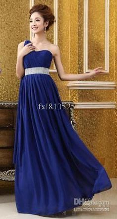 Wholesale Bridesmaid Dresses -  One Shoulder Sweetheart Elegant Long Bridesmaid Dresses, $95.46   DHgate