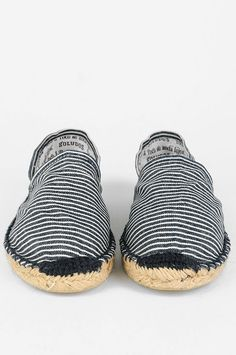 Navy and White Striped Espadrilles, via the Goldborough Store. Mens Spring Summer Fashion. #summer #fashion
