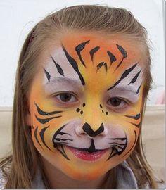maquillaje de tigre para mujer , Buscar con Google Mais