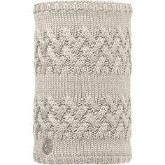 Buff Savva Knitted Womens Neck Gaiter One Size Cream Grey Vigore Fleece - Brought to you by Avarsha.com