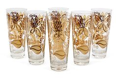 Gold etched AND butterflies! I love these glasses!