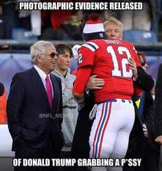 Trump and Tom Brady Patriots Memes, Nfl Memes, Football Memes, Sports Memes, Chiefs Football, Funny Laugh, Hilarious, Tomi Lahren, New York Giants