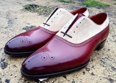 "completewealthmag: ""Brogue oxford in cherry leather C/o: Gaziano & Girling File under: Oxfords, Brogues """