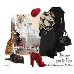 Neurone goes to Paris with Kilkenny and Martina, created by moodycat.polyvore.com