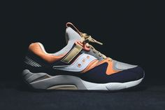 "Saucony has teamed up with KITH for an exclusive release of the Grid 9000 model, dubbed ""Kithstrike...."