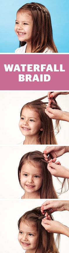 A pretty waterfall braid is perfect on long or short hair.
