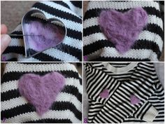 DIY heart elbow patches ~ wonder