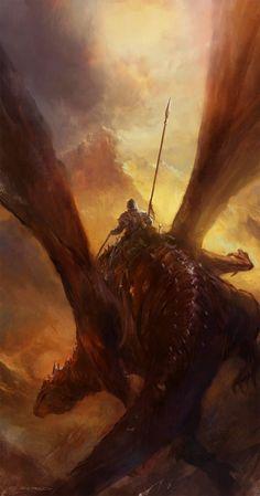 (3) Likes | Tumblr Dragon Rider by artist Ev Shipard.