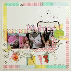 Scrapbook page with washi tape border