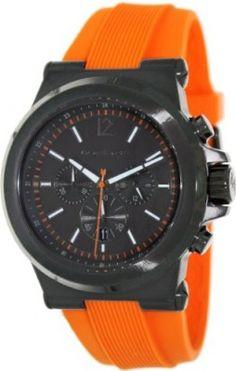 Relógio Michael Kors Dylan Chronograph Gunmetal Dial Gunmetal IP Orange Rubber Mens Watch MK8296 #Relógio #Michael Kors
