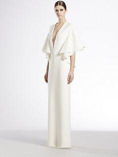 Gucci - Silk Cady Flounce Gown - Saks.com