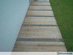 Hardhouten panelen Azobe en douglas steenschotten