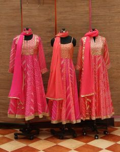 Available in different prints and colors of bandhini. Ask for the available prints at the time of ordering.