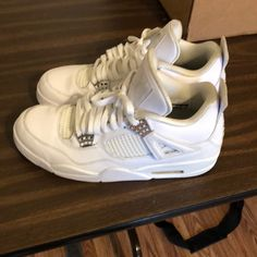 ab09a59b13f Shop Men s Jordan White Silver size 11 Athletic Shoes at a discounted price  at Poshmark.