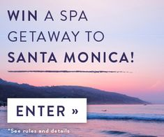 Win a spa getaway to Santa Monica! Prize includes airfare, hotel stay, spa treatments and more. Enter now at tastingtable.com/santamonica2015
