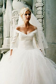 "Buffy Summers wedding dress from ""Buffy the Vampire Slayer"" tv series."