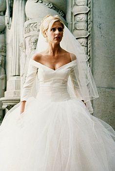 "Buffy Summers wedding dress from ""Buffy the Vampire Slayer"" tv series."