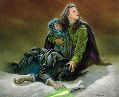 Star Wars - Dave Dorman Art - Tales of The Jedi - Nomi Sunrider picks up her murdered husband's lightsaber and starts the path to becoming a jedi Star Wars Comics, Star Wars Rpg, Star Wars Jedi, Star Wars Books, Star Wars Characters, Kit Fisto, Saga, Star Wars Legacy, Mara Jade