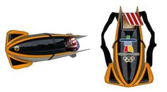 I designed these Bobsled backpacks for the Olympics - but was too late to make it happen. :(