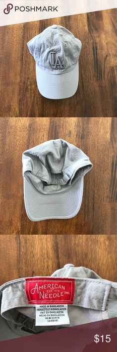 PACSUN - Gray LA Baseball Hat Never worn, honestly forgot about it till i cleaned out my closet to sell. PacSun Accessories Hats