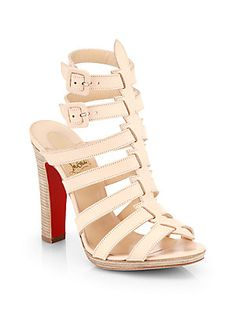 Christian+Louboutin Neronna+Leather+Sandals