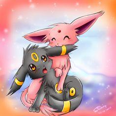 Umbreon and Espeon - Pokemon