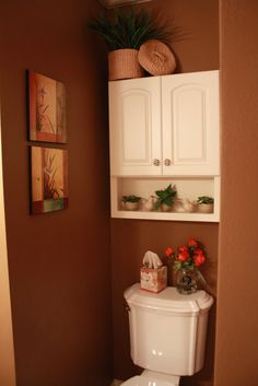 Small Half Bathroom Decor half bath on a budget love color, chair rail, photos ontop of each
