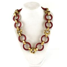 Vintage Art Deco Wood Brass Necklace Chunky 30s Geometric Czech... ($69) ❤ liked on Polyvore featuring jewelry, necklaces, geometric necklace, wooden necklaces, vintage brass necklace, vintage jewelry and chunky statement necklace