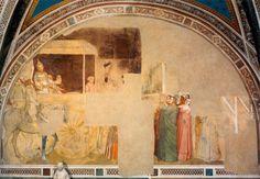 Santa Croce, Florence.  Фрески капеллы Барди ди Вернио в церкви Санта Кроче. Мазо ди Банко (1320 — 1340 г.). Константин отказывается от купания в крови невинных младенцев.