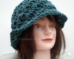 Eleganter Hut in Petrolfarben von Ulemo auf Etsy, €24.80