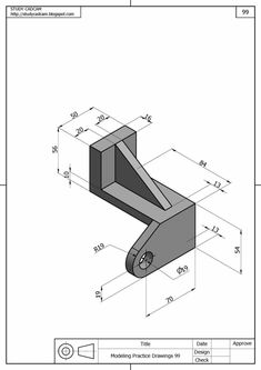 Ölçülendirilmiş Perspektif Resim Örnekleri | Makine Eğitimi Isometric Drawing Exercises, Autocad Isometric Drawing, Autocad Revit, Mechanical Engineering Design, Mechanical Design, Cad 3d, Orthographic Drawing, Solidworks Tutorial, Cad Programs