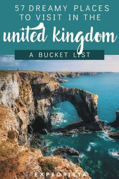 The Ultimate UK Bucket List 57 Dreamy Destinations united kingdom united kingdom bucket list wales england scotland northern ireland Europe Destinations, Bucket List Destinations, Holiday Destinations, Cool Places To Visit, Places To Travel, Places To Go, Travel To, Usa Travel, Hawaii Travel