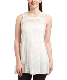 Look what I found on #zulily! Ivory Lace Tunic #zulilyfinds