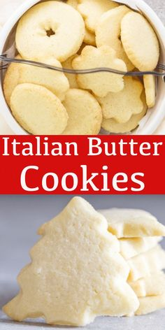 A buttery simple Italian Cookie. These Italian Butter Cookies are perfect anytim… A buttery simple Italian Cookie. These Italian Butter Cookies are perfect anytime. Serve them as a holiday cookie or with tea or coffee in the afternoon. New Year's Desserts, Cookie Desserts, Christmas Desserts, Christmas Baking, Dessert Recipes, Cake Recipes, Cookie Cups, Baking Desserts, Italian Butter Cookies